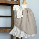 Ruffle pillowcase dress || makes a cute rustic flower girl dress!