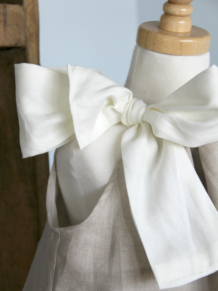 pillowcase dress with giant bow