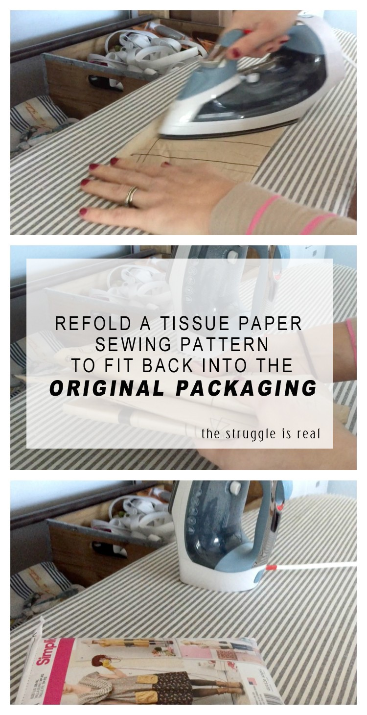 how to refold tissue paper sewing patterns