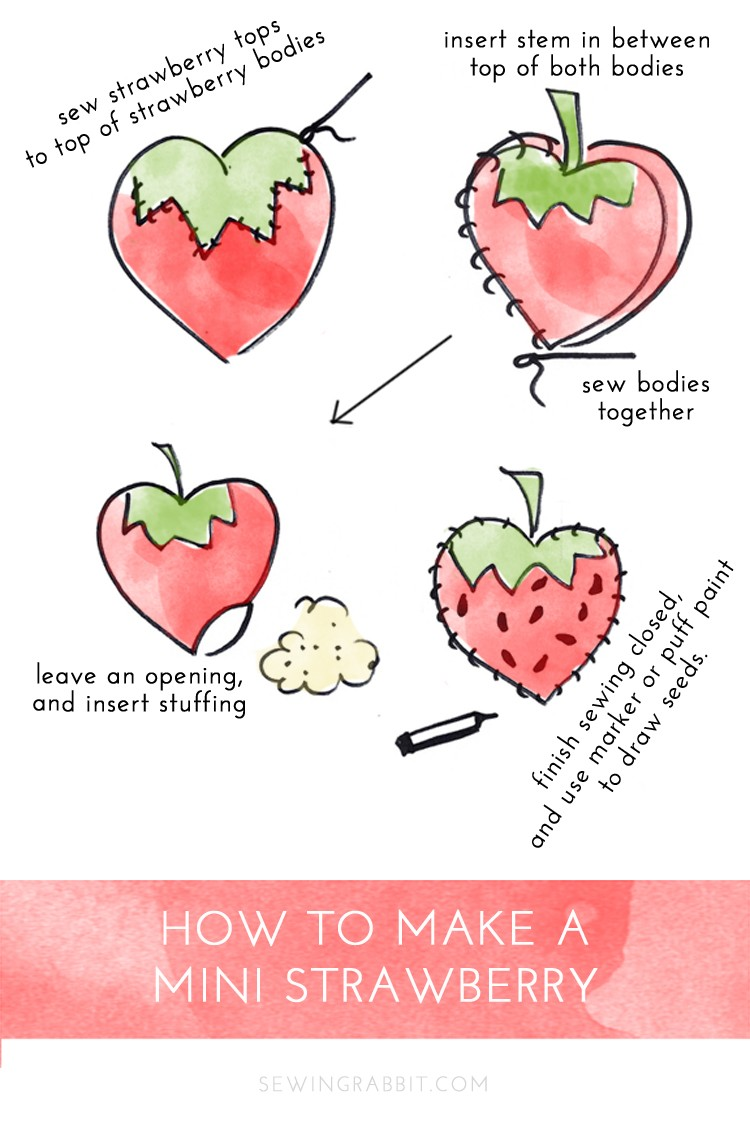 how to sew a strawberry