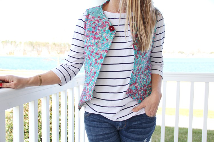 the easiest women's vest sewing DIY, ever.