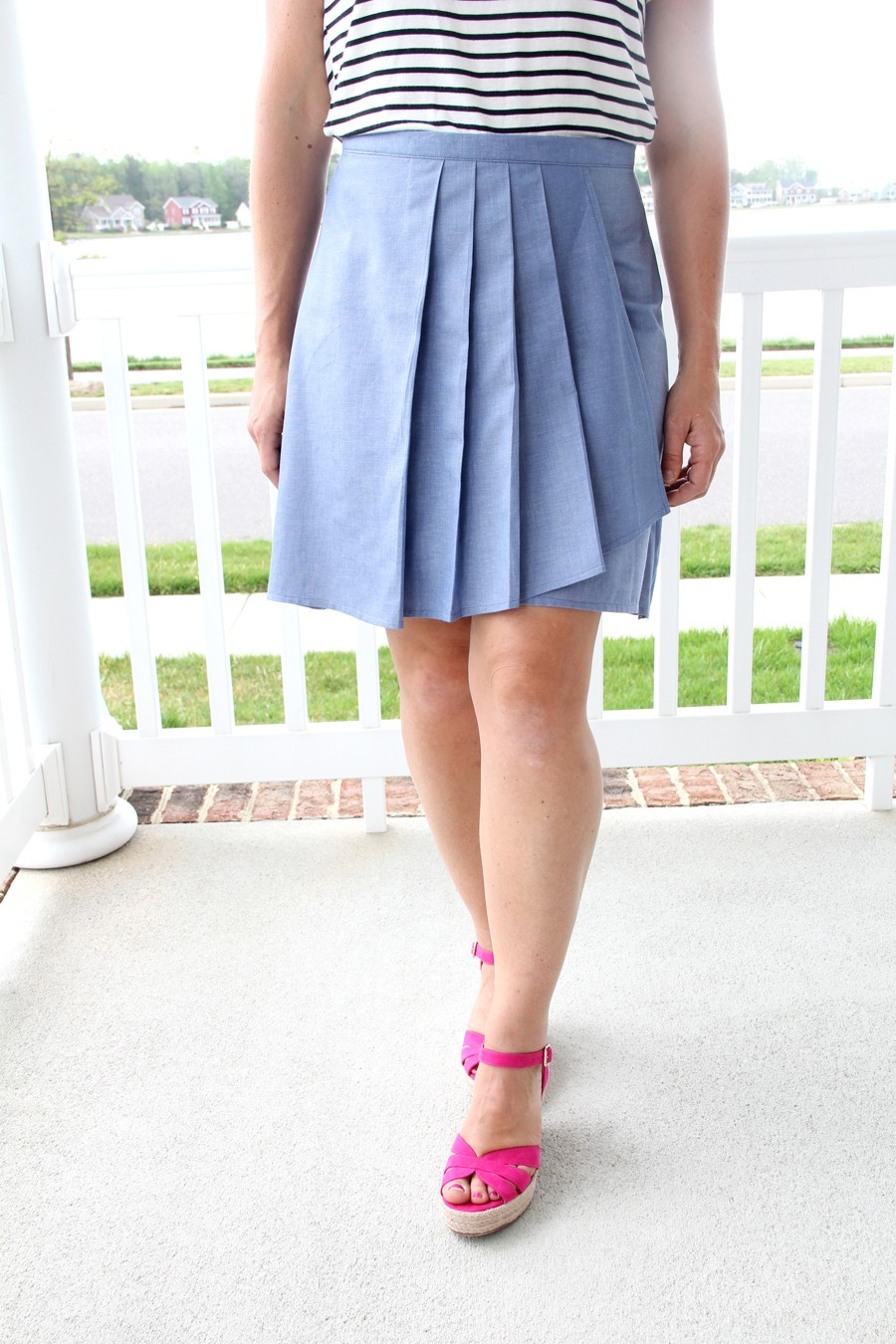 Pleated Wrap Skirt || Free Women's Skirt Sewing Pattern