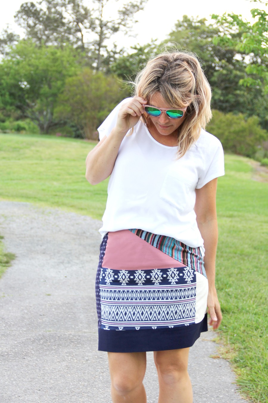 How to make a patchwork skirt || Bohemian Chic Summer Style on a DIY budget