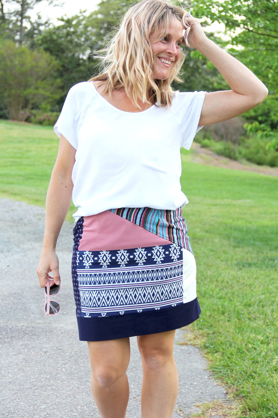 How to make a patchwork skirt || Bohemian Chic Summer Style on a DIY budget.