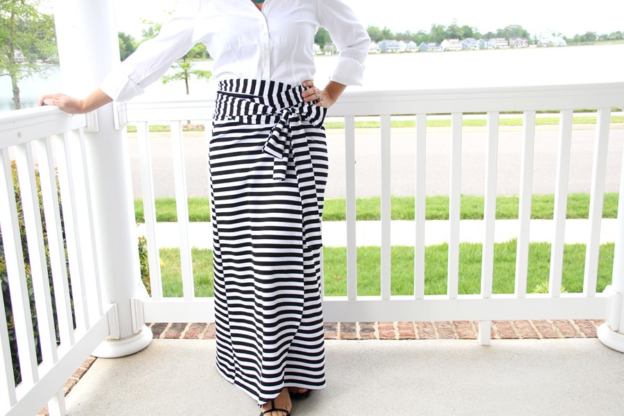 Wrap Maxi Skirt DIY