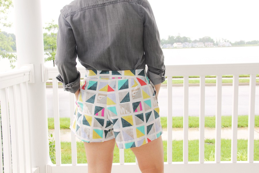 Pleated Shorts Pattern, BurdaStyle 06/2016 #110A