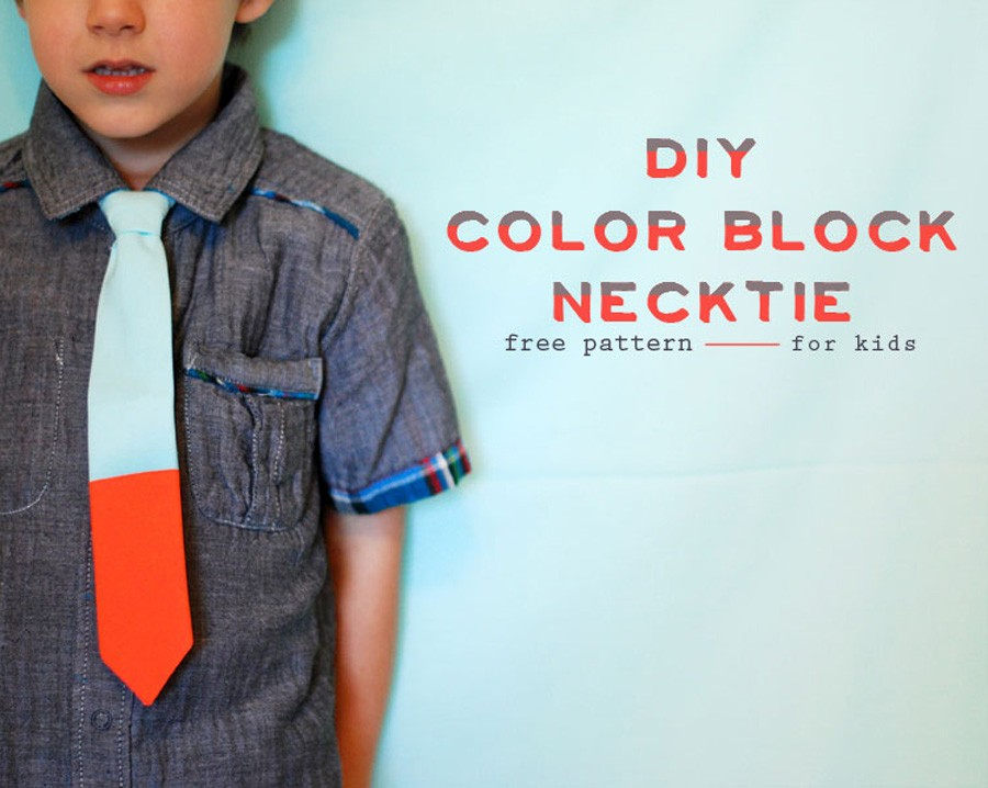 Colorblock Necktie Pattern