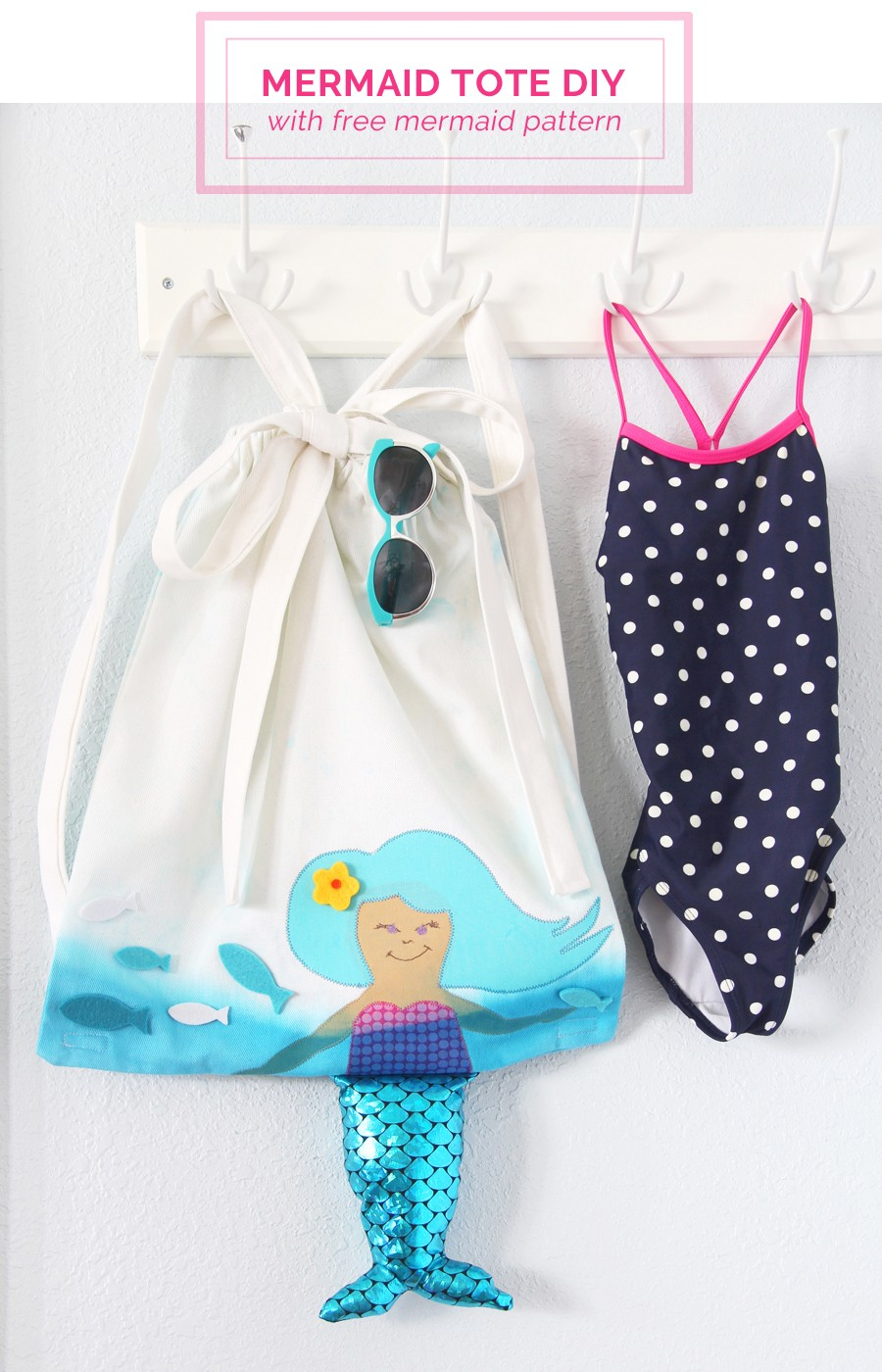 make your bag beach perfect this Summer with the free mermaid pattern!