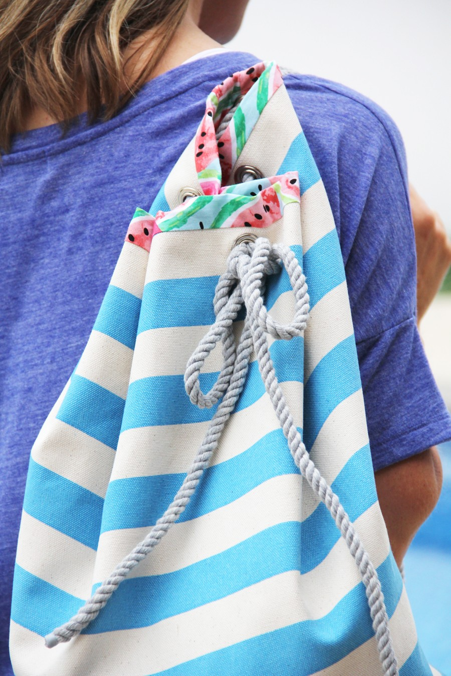 Rope Beach Bag The Sewing Rabbit