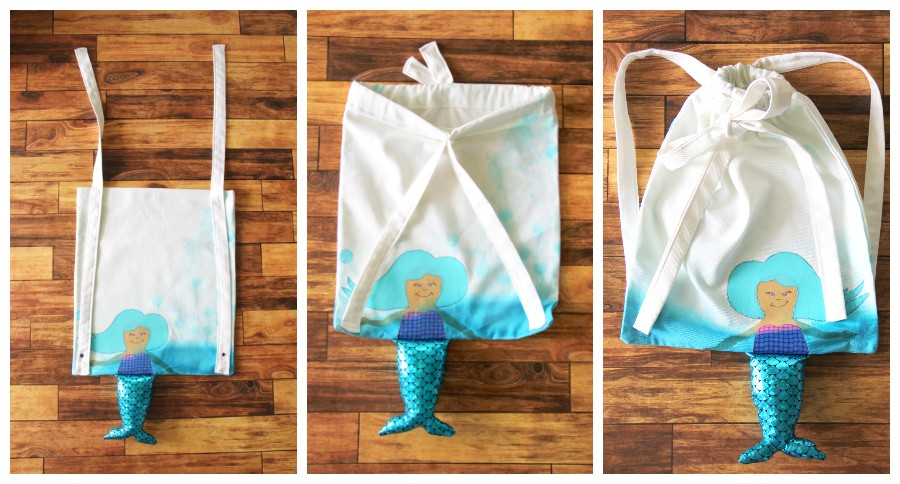 How to make a mermaid bag, with free mermaid download