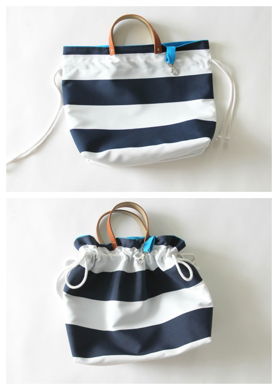 how to make a cinch top bag, easy purse sewing tutorial