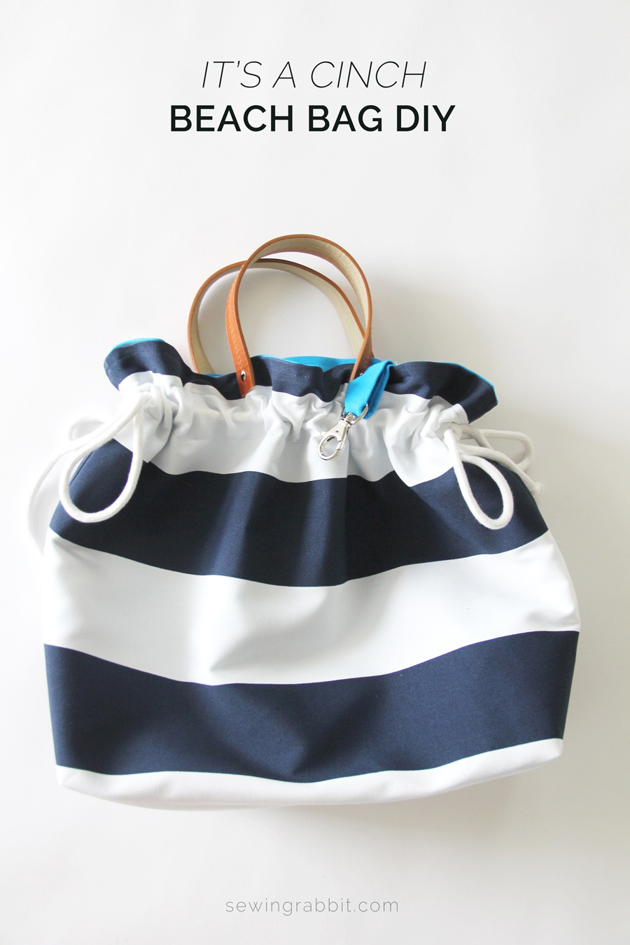 It's a Cinch Bag DIY - how to sew a cinch top bag , easy purse DIY