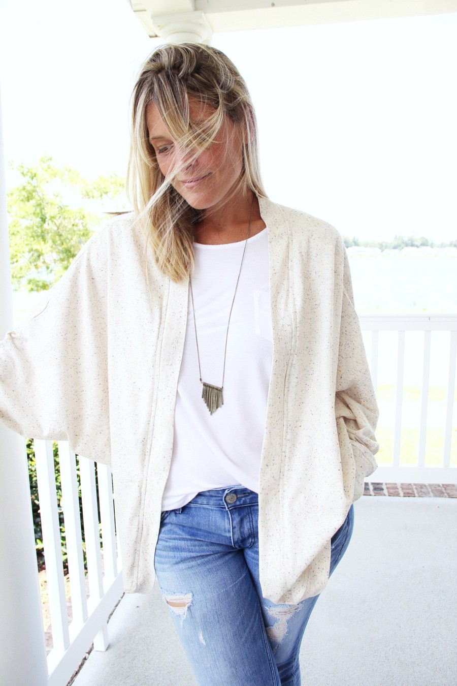 how to sew a slouchy cardigan || slouchy cardigan DIY