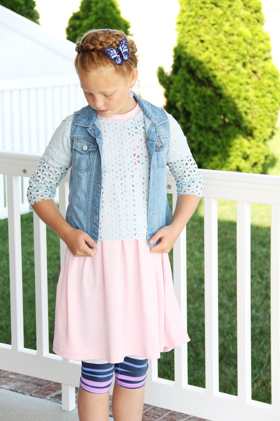 free girls dress pattern, babydoll dolman dress back to school dress