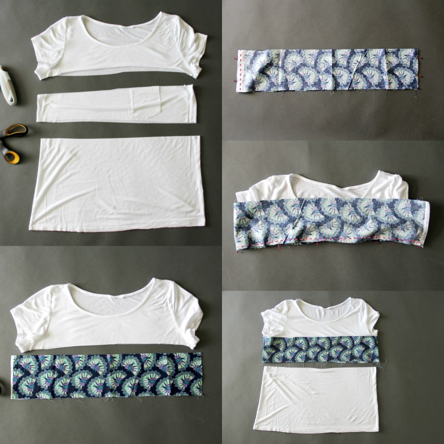upcycle t-shirt DIY