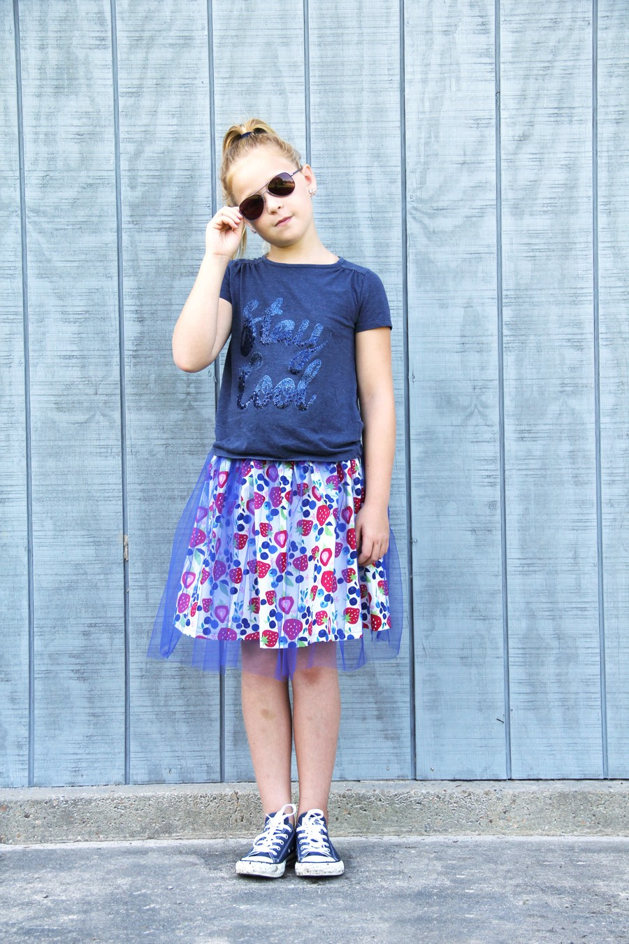 FREE SKIRT PATTERN: Tulle overlay skirt, sizes 2T thru 12