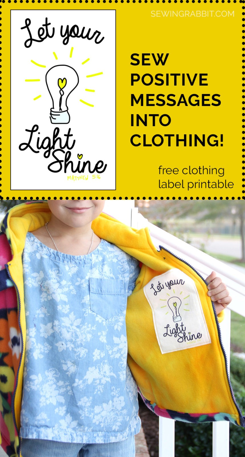 Positive message clothing labels  Sewing words of encouragement and positivity to strengthen your child throughout the day
