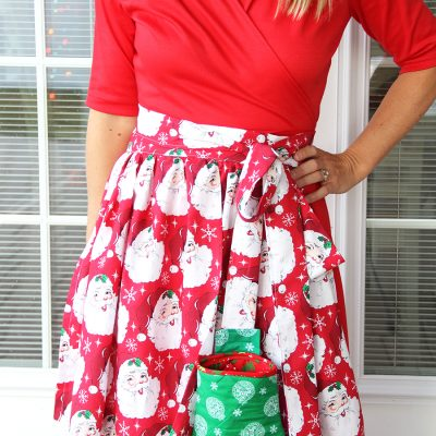 Apron with Detachable Oven Mitt Pattern