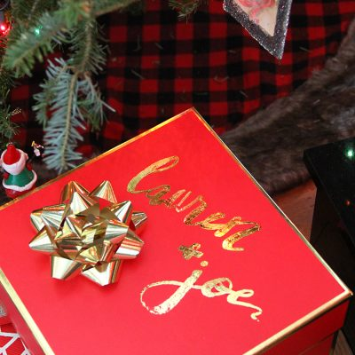 Add Pressed Foil to your Christmas Gift