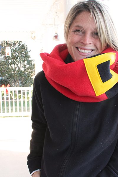 Santa Neck Scarf DIY