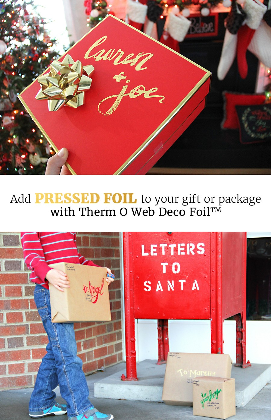 How to add Pressed Foil to your Christmas Gifts and Packages