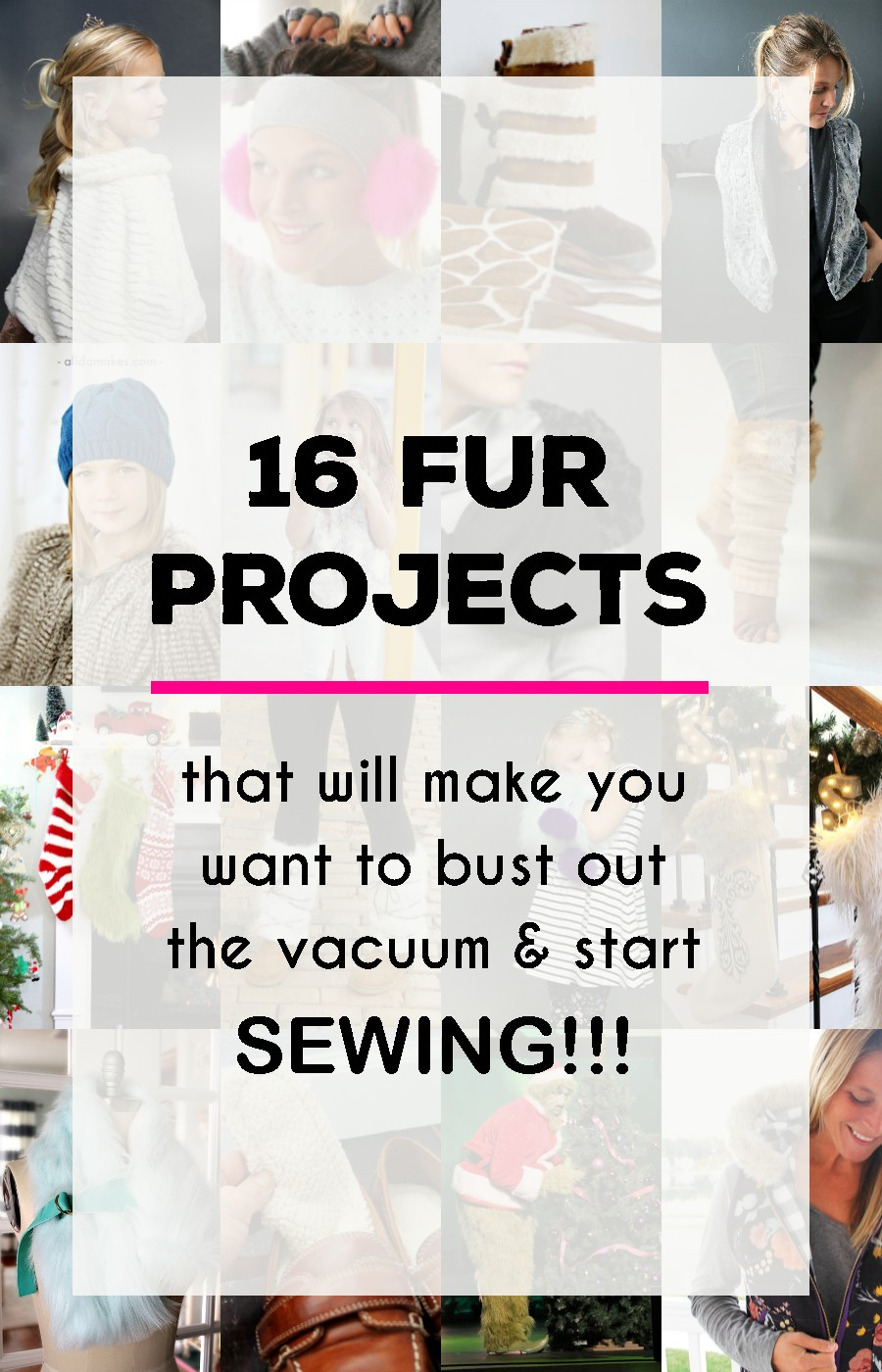 16 fur sewing projects that will make you want to break out the vacuum and start sewing!