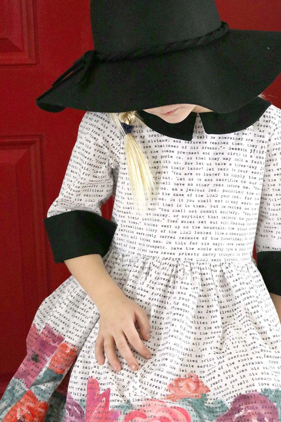 Pepper Dress Pattern by Violette Field Threads || Custom bible verse fabric