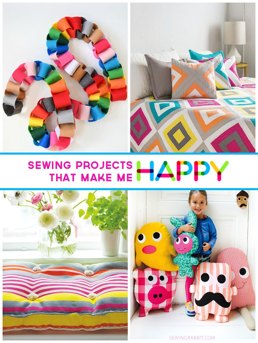 bright and colorful sewing projects