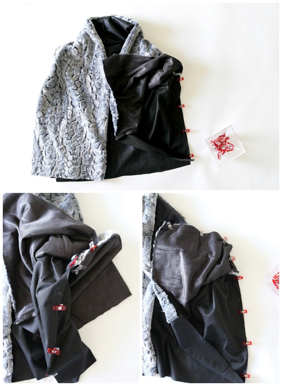 How to sew a shawl collar vest, with step by step sewing instructions