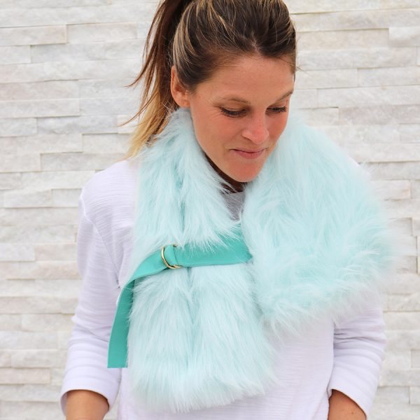 Faux Fur Buckled Stole