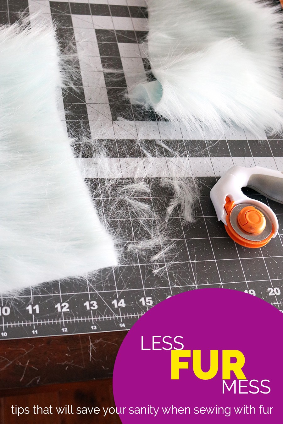 tips for sewing with fur that will help save your house (and your sanity!!!)