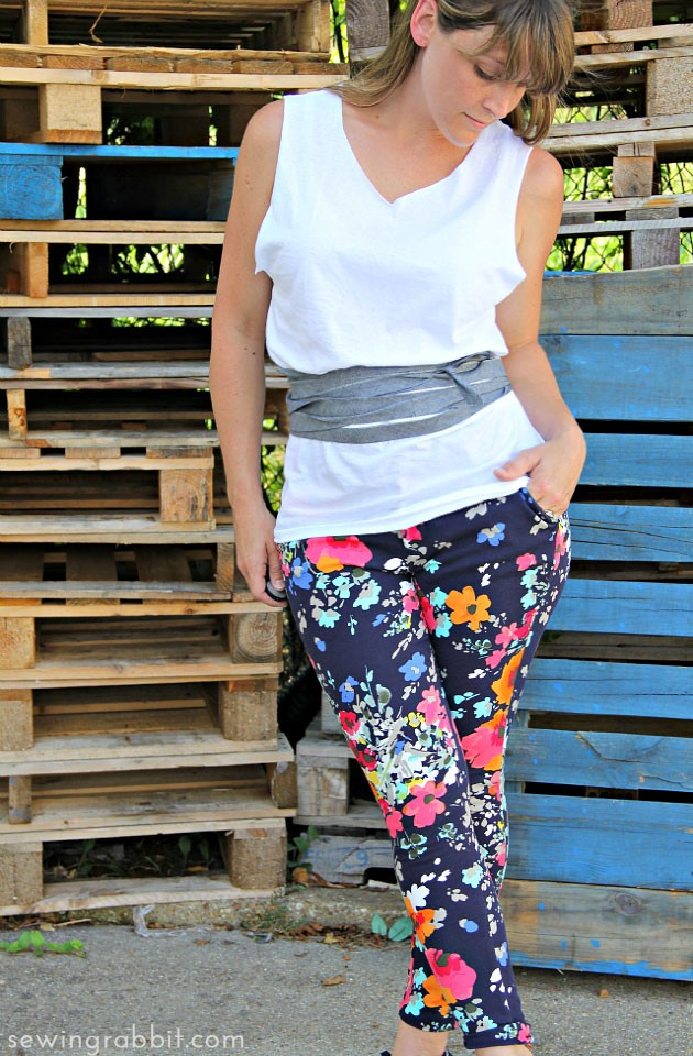 Look No 9 - Loose Fitting Tank with Belt - Ten Shirt Challenge
