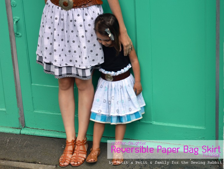 mother daughter reversible paper bag skirt tutorial DIY 2
