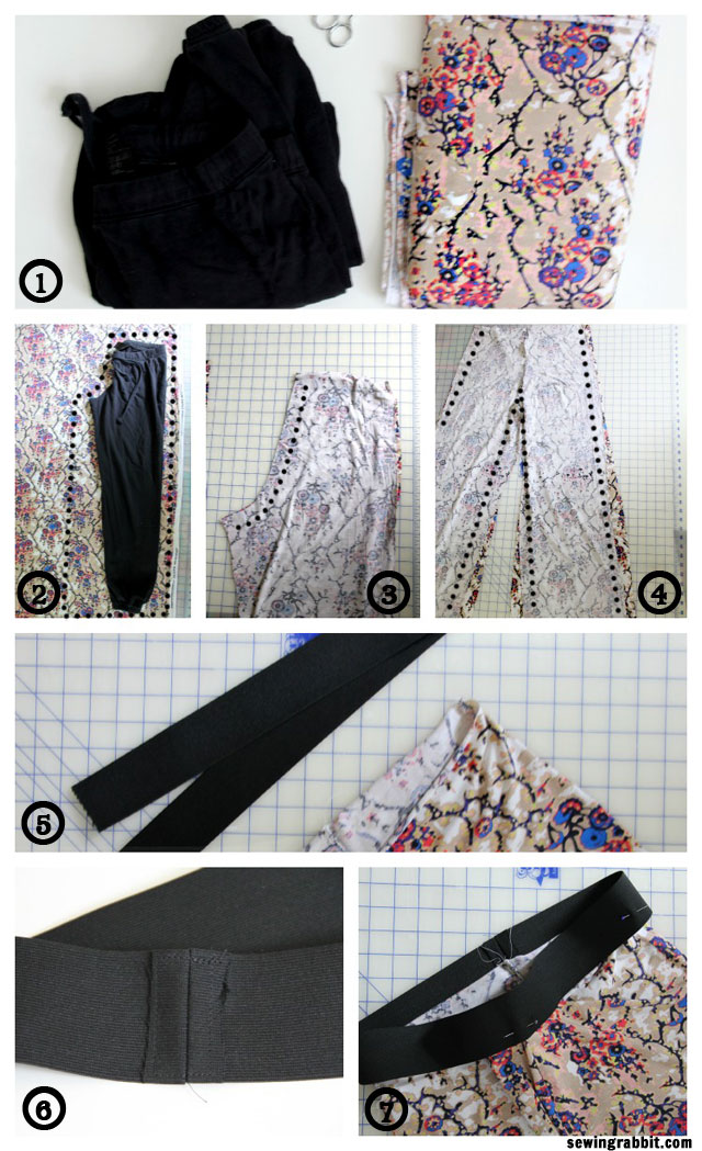 How to Sew an easy pair of knit pants DIY