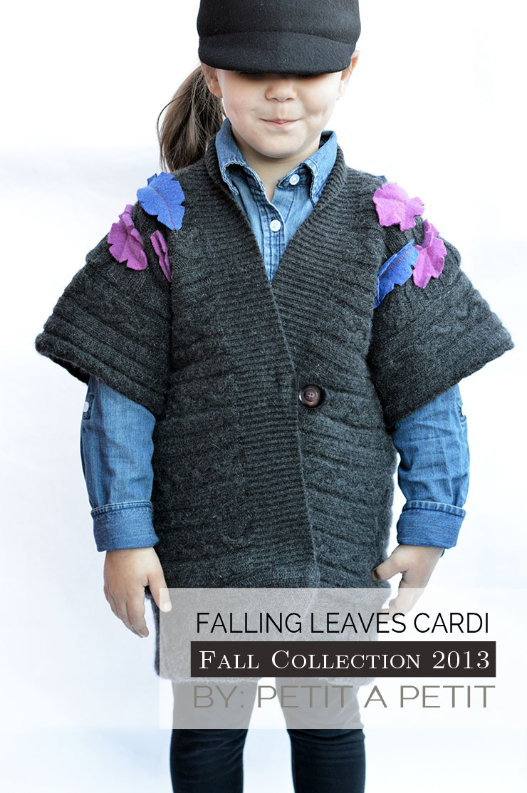 Falling Leaves Cardigan Upcycle - Sewing Rabbit Fall Collection - Petit a Petit