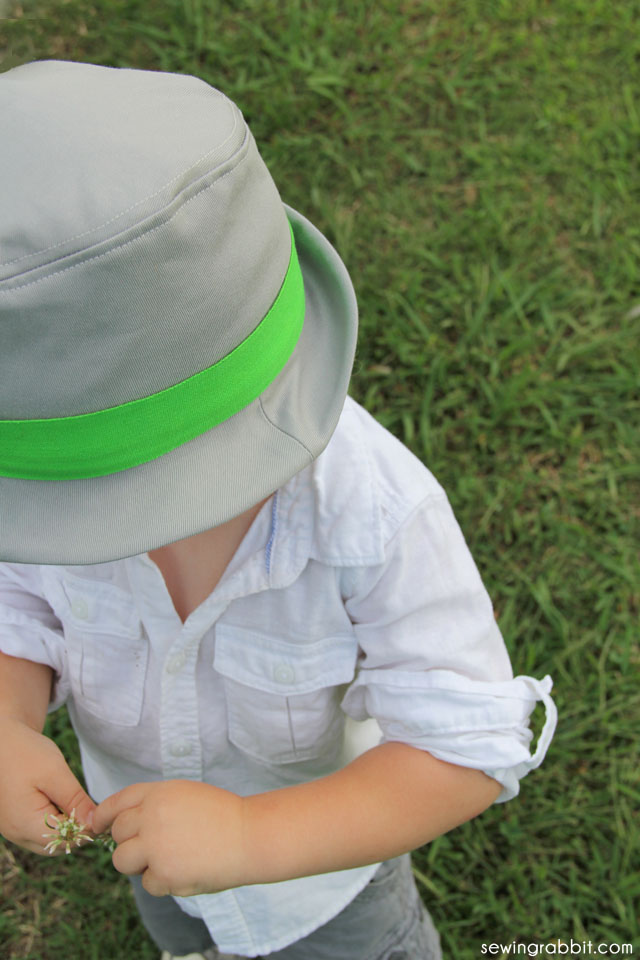 Fedora Hat Pattern  ||  sewn by: The Sewing Rabbit