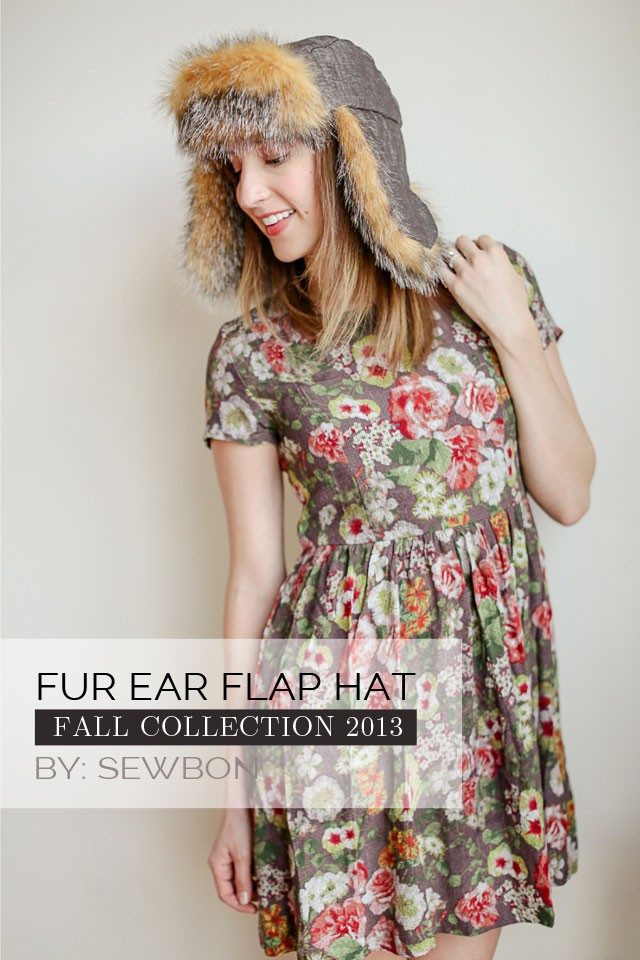 Ear Flap Hat DIY - with free #Sewing Pattern, Fall Collection 2013