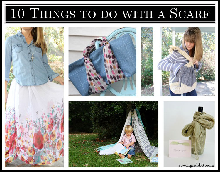 10 Things to do with a Scarf, DIY Upcycles and Styling
