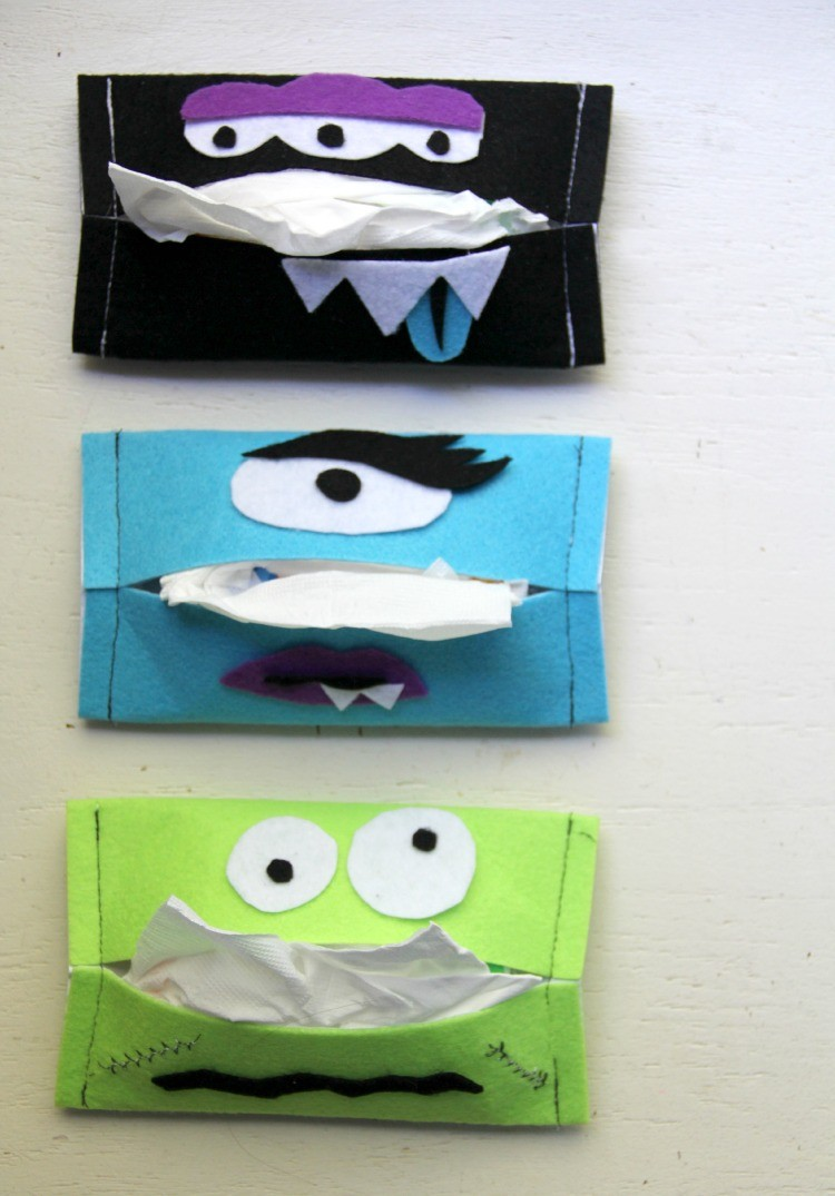 Boogie Monster Tissue Holder Easy Halloween Craft