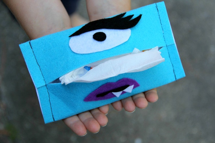 Boogie Monster Tissue Holder DIY - Halloween Craft