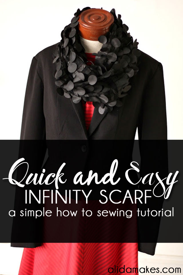 Quick and Easy Infinity Scarf - 5 minutes to Sew
