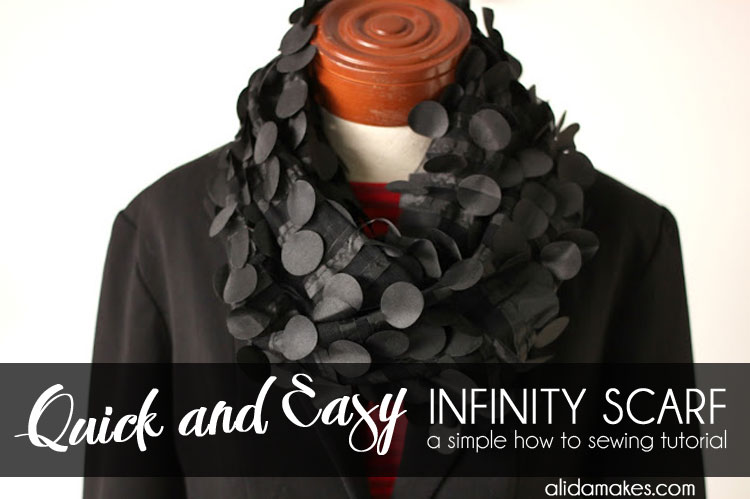 Quick and Easy Infinity Scarf - 5 minute sewing tutorial