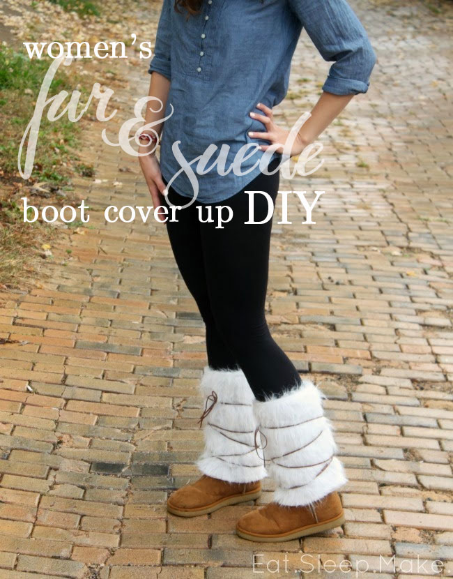 Women's Fur & Suede Boot Cover Up DIY