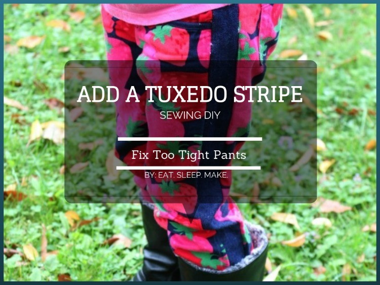 Add a Tuxedo Stripe to Fix Too Tight Pants - sewing DIY