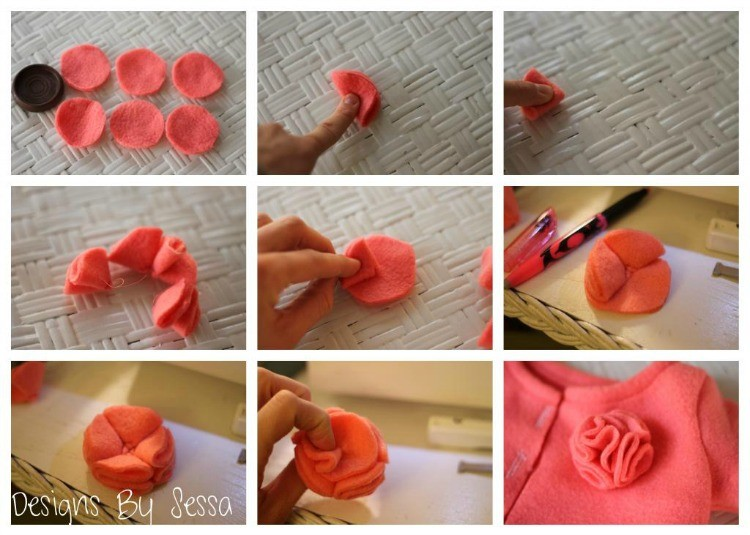 Fleece Flower Rosette DIY