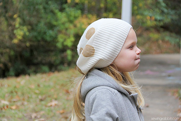 Add Gold Polka Dots to any Hat - So so easy!