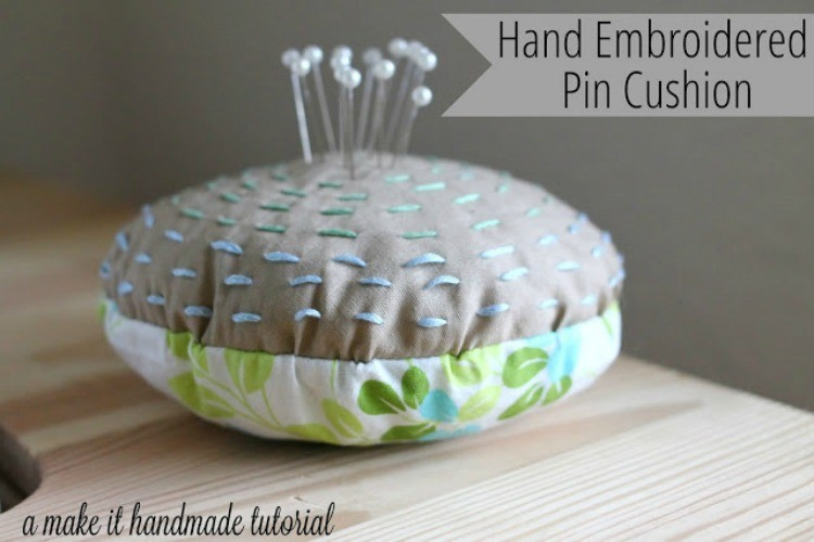 Hand Embroidered Pin Cushion Sewing Tutorial