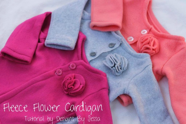 Fleece Flower Cardigan Sewing Tutorial