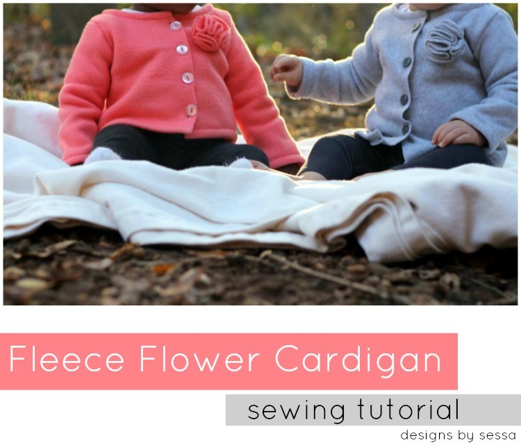 Fleece Flower Cardigan, Sewing Tutorial