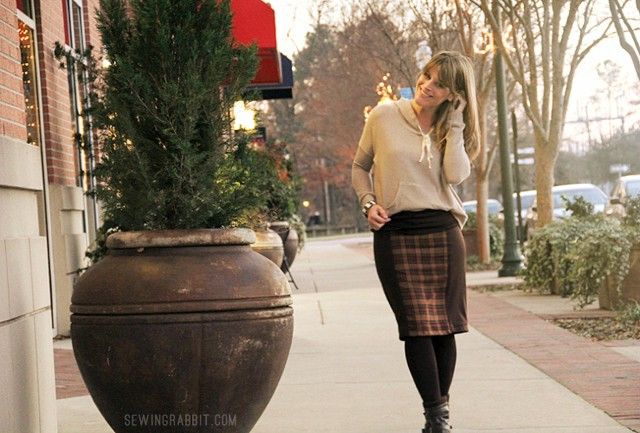 Side Panel Knit Skirt, easy to make and ultra comfortable